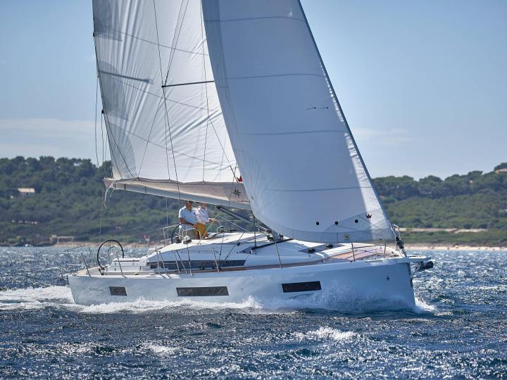 Sail boat for rent in Portisco, Italy, for up to 8 guests.