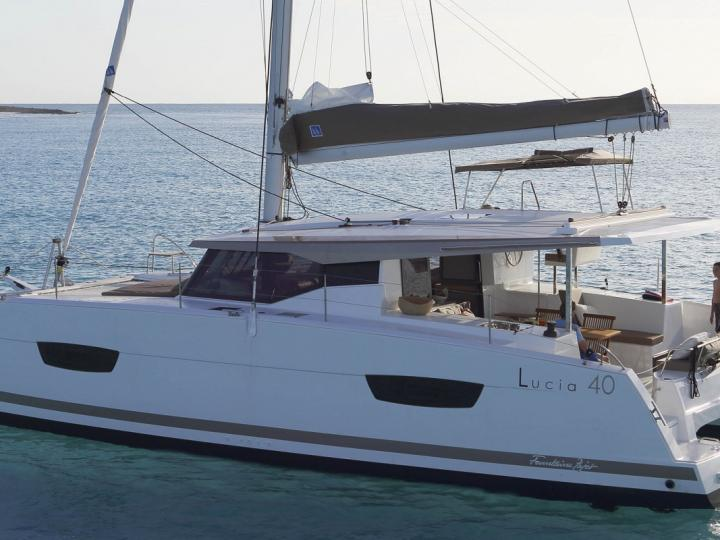 Sunrise - a 38ft catamaran for rent in Göcek, Turkey. Enjoy a great boat charter for 8 guests.