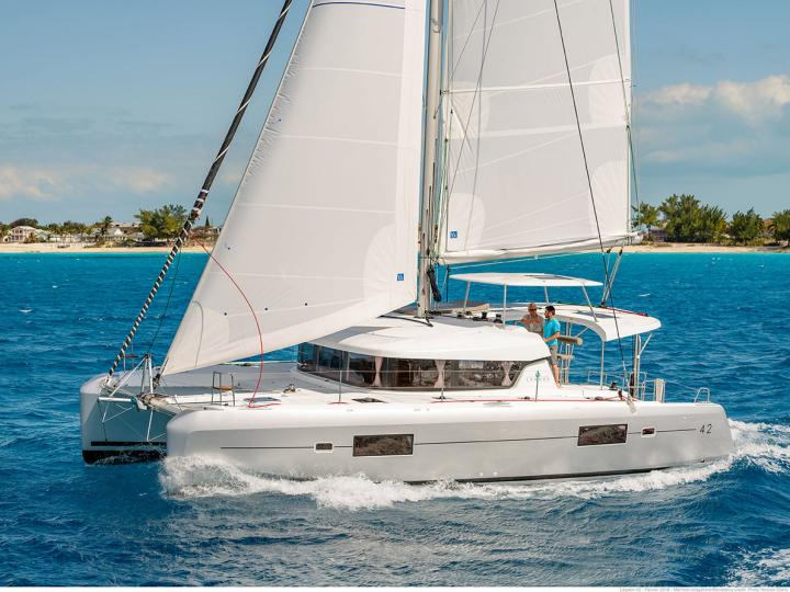 Private catamaran for rent in Salerno, Italy - discover your family yacht charter.