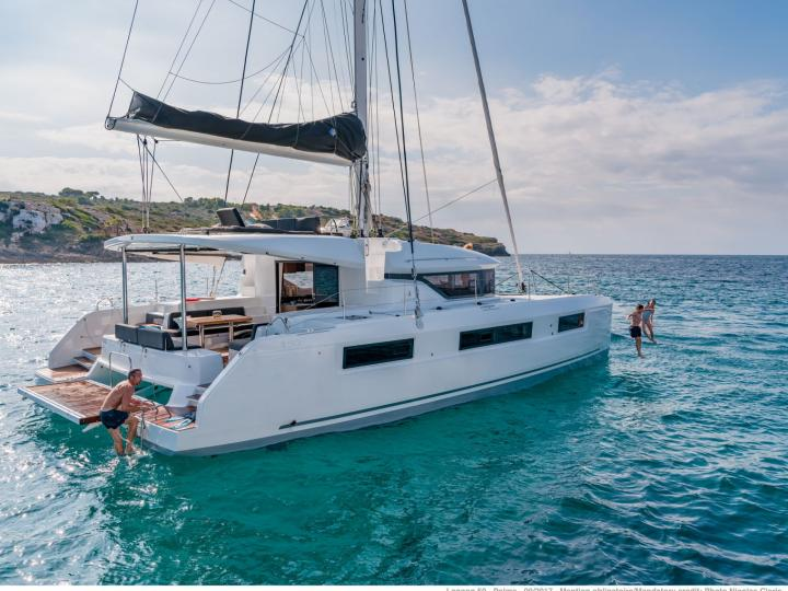 Cruise the crystal clear turquoise waters of Road Town, BVI aboard this gorgeous catamaran for rent.