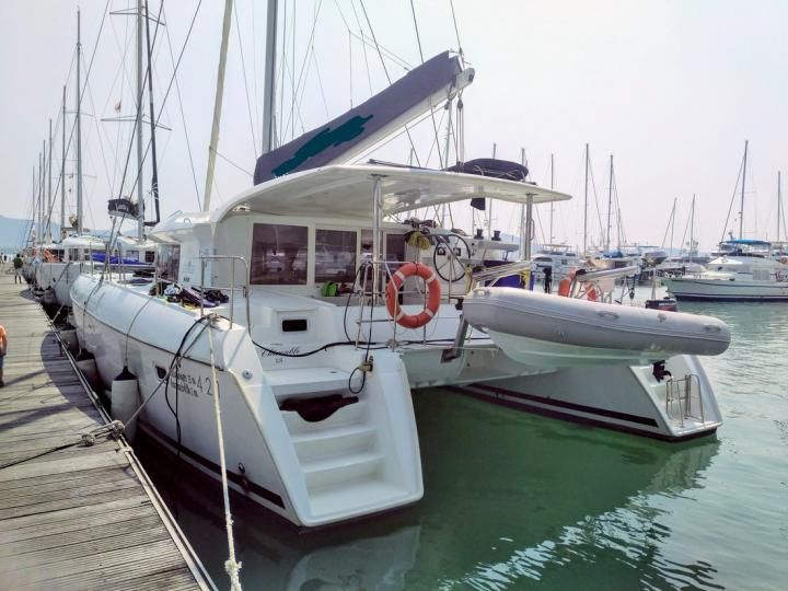 Rent a catamaran in Tambon Koh Chang Tai, Thailand - the Shiroubles boat.