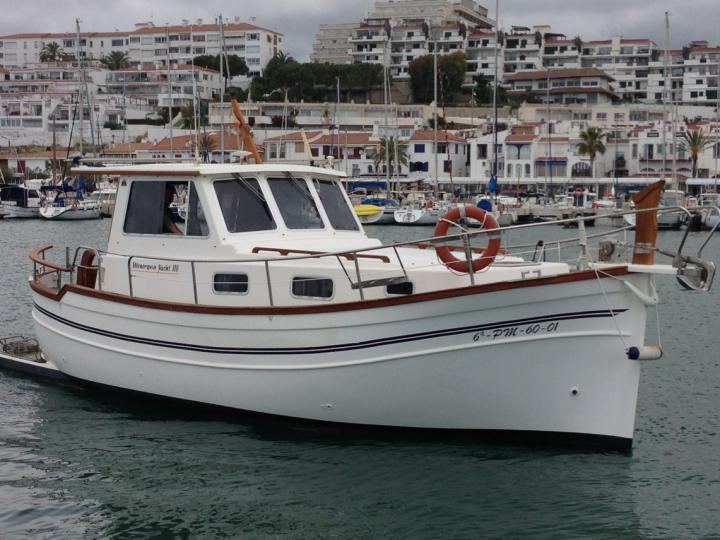The best boat rental in Sitges, Spain - amazing power boat for rent.