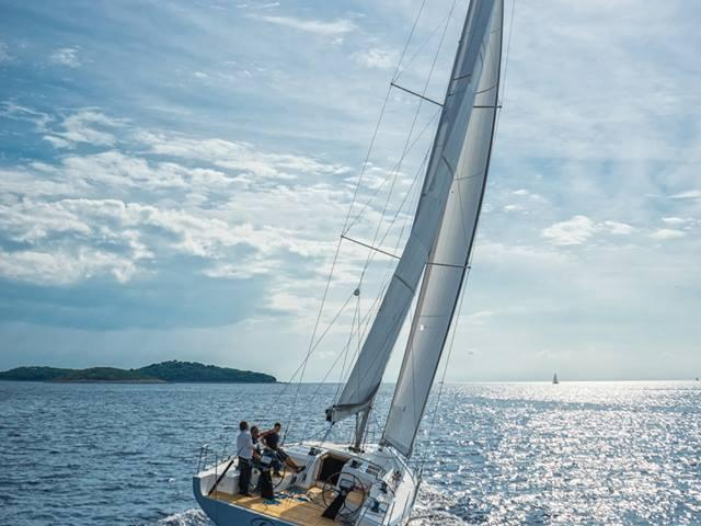 Cruise the Adriatic turquoise water on a private boat for rent in Split, Croatia for up to 10 guests.