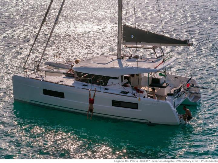 Sail to your dreams on this luxury catamaran in Seget Donji, Croatia - the ultimate vacation dream come true on a catamaran charter for 8 guests.