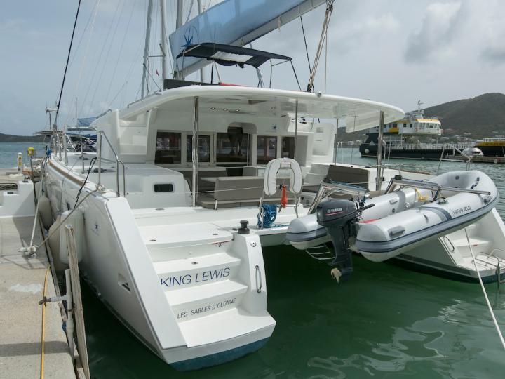 Catamaran boat rental in Tortola, BVI for up to 8 guests.