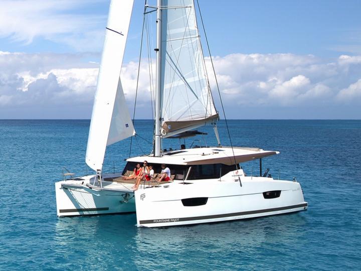 Sail around Adriatic waters of Croatia on a catamaran - rent the amazing Shanti catamaran and discover sailing.