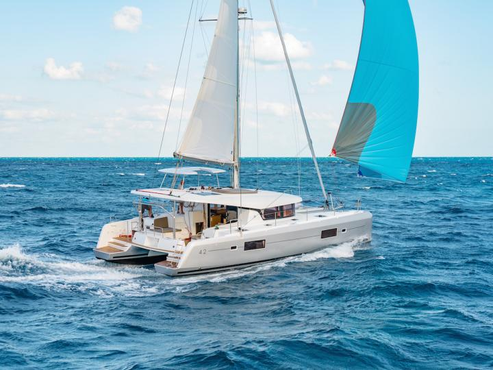Top class catamaran for rent in Salerno, Italy - create your dream vacation on the Boreas yacht charter.
