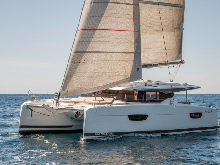 Beautiful catamaran for rent in Tortola, BVI for up to 8 guests.
