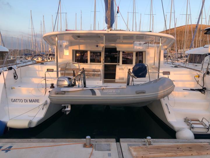 Catamaran sailboat rental near Split, Croatia for up to 8 guests.