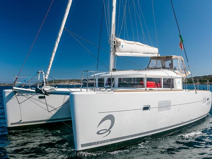 Sail on a beautiful 39ft catamaran in Portisco, Italy - the ultimate vacation trip!