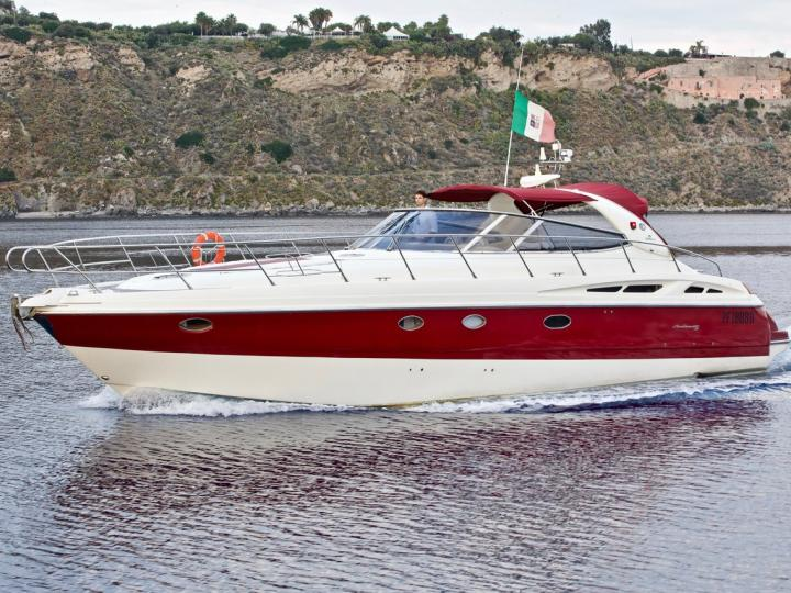 Cruise the beautiful waters of Milazzo, Italy aboard this great boat for rent.