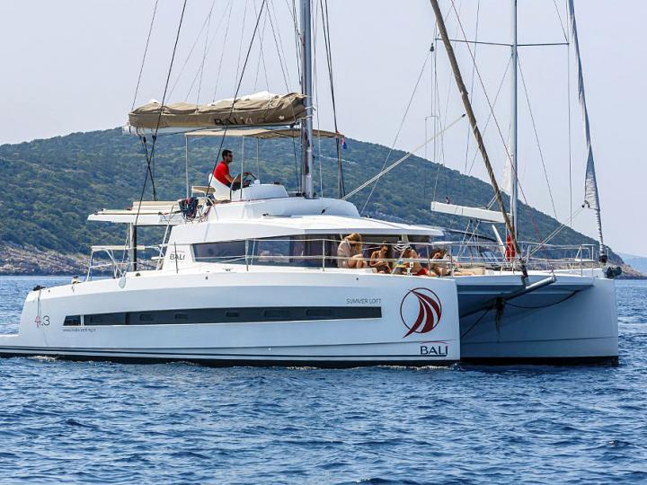 Gorgeous catamaran for rent in Split, Croatia - the Summer Loft yacht charter for up to 8 guests.