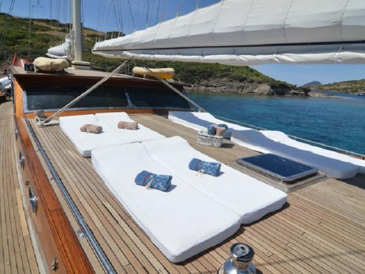 Cruise the beautiful waters of Bodrum, aboard this gullet charter.