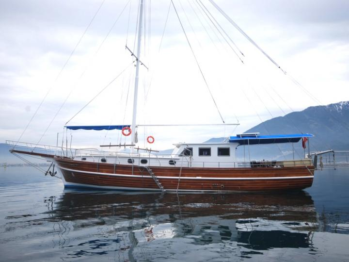 Gulet boat rental in Fethiye, Turkey for up to 8 guests.
