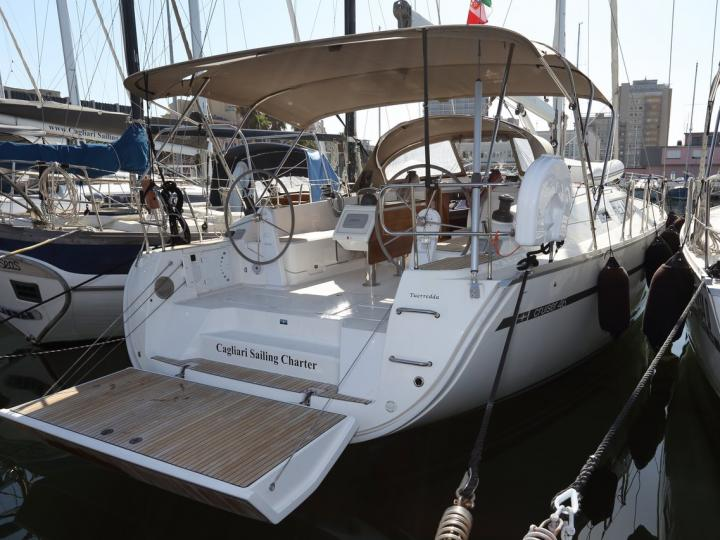 Rent a sail boat in Cagliari, Italy - the ultimate vacation trip on a yacht charter for 8 guests.