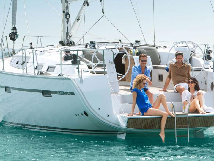 Rent a boat and discover the Cyclades from Lavrio, Greece. The Anemone yacht charter.